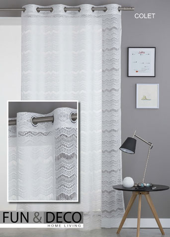 CORTINAS 																		FUN-COLET 140x260 cm. BLANCO CORTINA