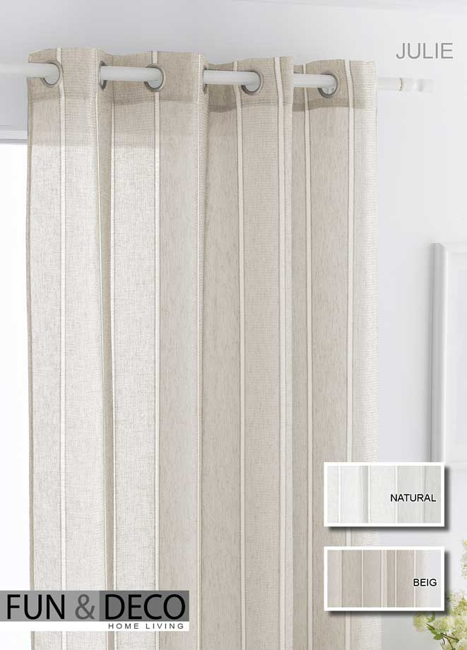 CORTINAS 																		JULIE 140x260 cm. NATURAL CORTINA