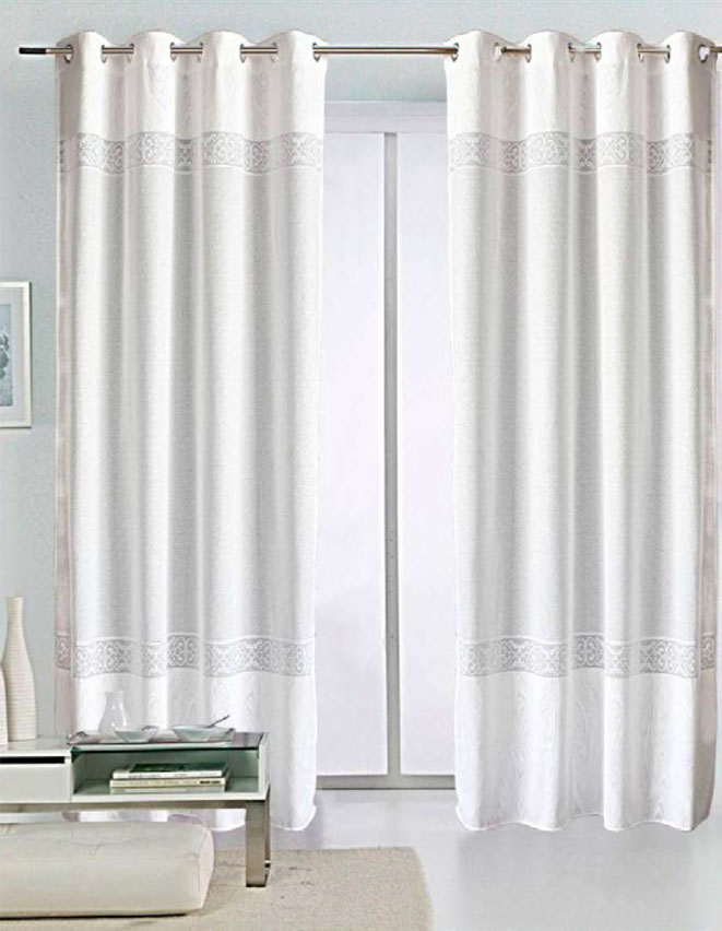 CORTINAS 																		KENTIA 145x260 cm. BLANCO-01 CORTINA