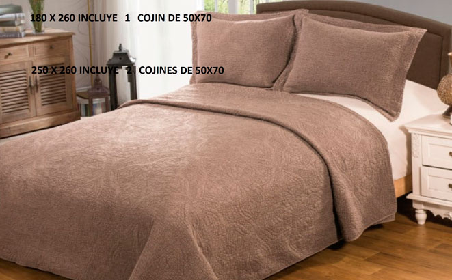 EDREDONES 																		STONE-WASH 150 cm. MARRON BOUTI